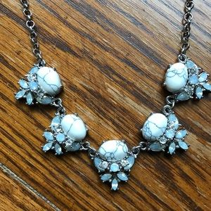 Stone Marble Crystal Statement Necklace